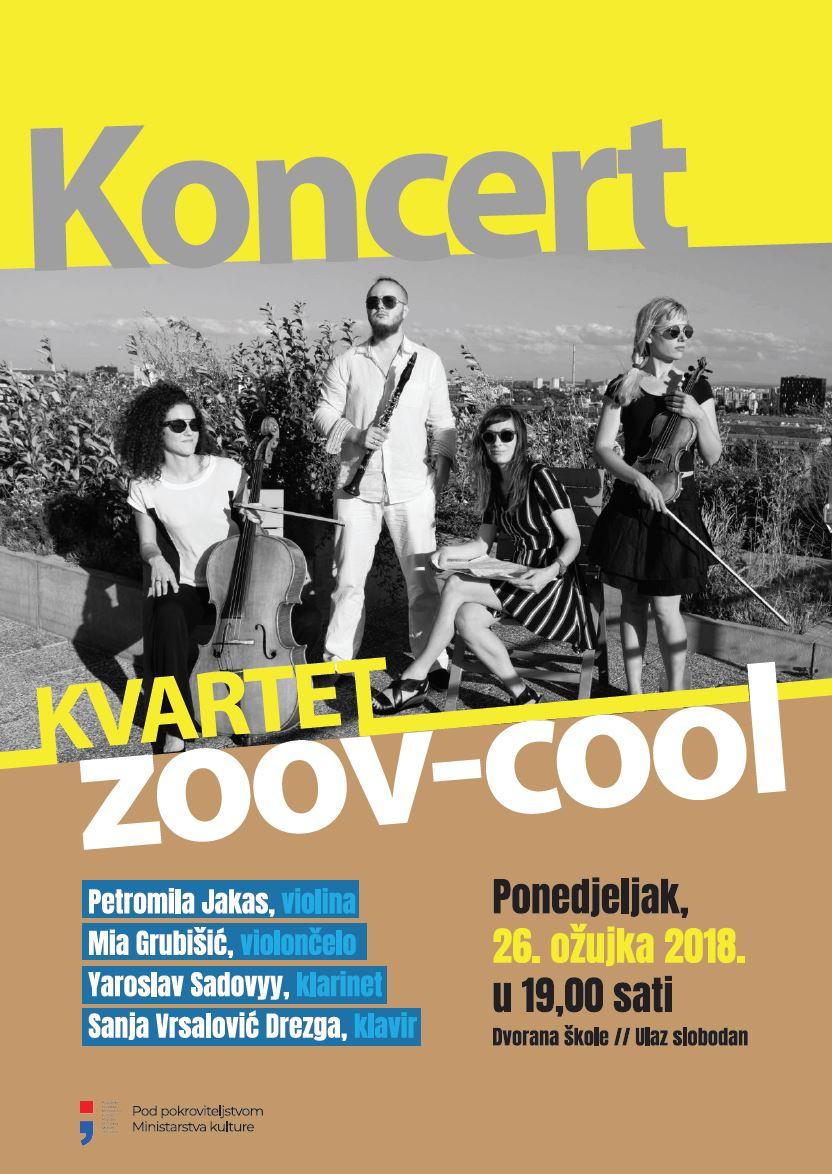 Plakat za koncert - Zoov Cool